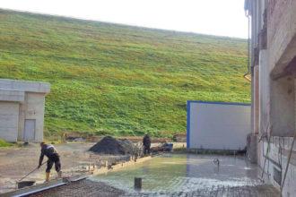 Hallenanbau bei den Harzwasserwerken