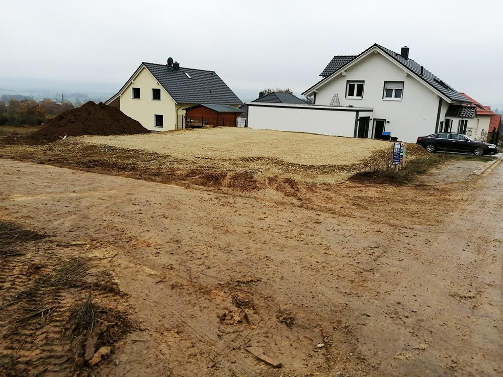 Bungalow in Einbeck mit halbseitig geschaltem Fundament